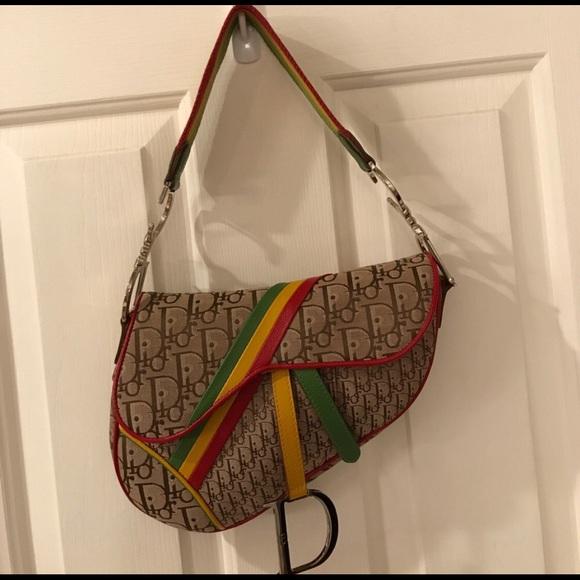 d6464aa2811d Dior Handbags - Christian Dior Rasta Saddle Bag